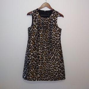 JCREW leopard shift dress